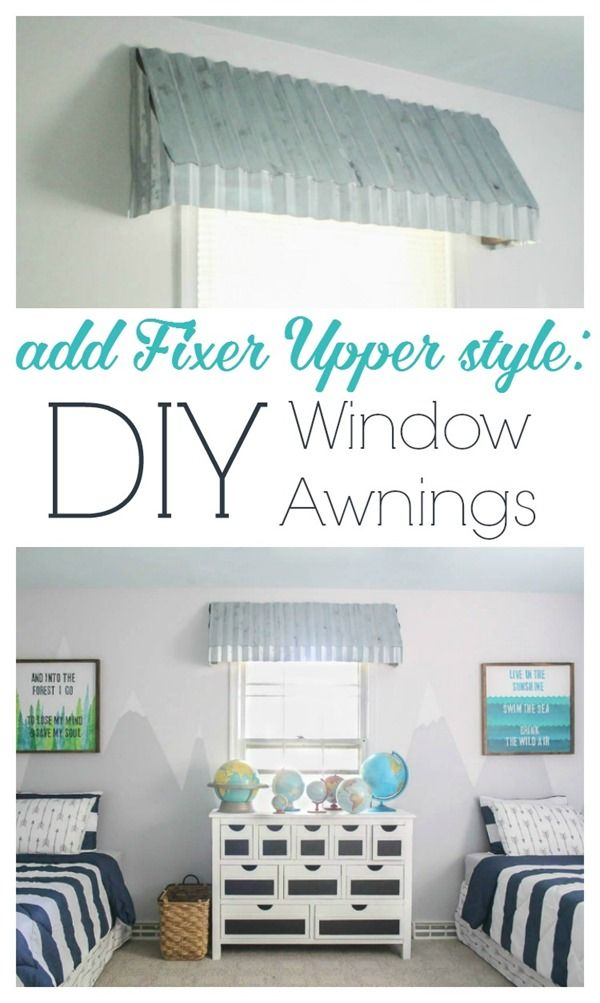 how to make diy farmhouse window awnings, these rustic window treatments look beautiful and add that perfect fixer upper style to any room