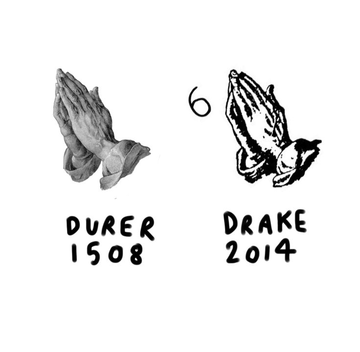 This+Tumblr+Pairs+Medieval+Art+With+Rappers,+and+It's+Brilliant  - ELLE.com DURER PRAYING HAND, 1508 AND DRAKE SIX ARTWORK