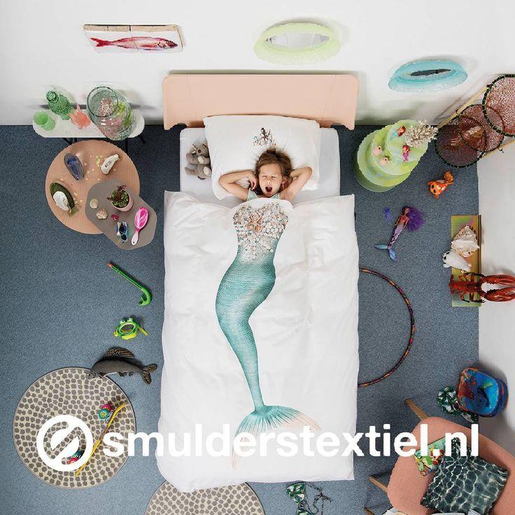 A mermaid, just like you  #SNURK #mermaid #dekbedovertrek #zeemeermin…