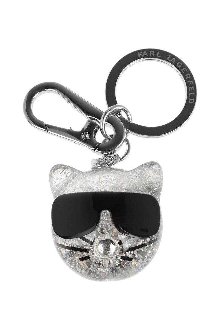 Karl Lagerfeld | Choupette glittered resin keychain