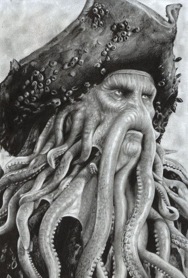 Davy Jones by D17rulez {Daisy van den Berg of the Netherlands} on deviantART ~ POTC traditional pencil art