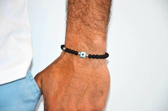 Men's Evil Eye Bracelet, Gift for Him, Men's Bracelet, Evil Eye Jewelry, Men's Jewelry, Made in Greece by Christina Christi Jewels.