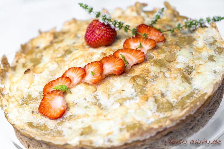 #Gateau aux poires: gâteau sans #gluten aux #poires, amandes et cannelle de @Saveurs croisées
