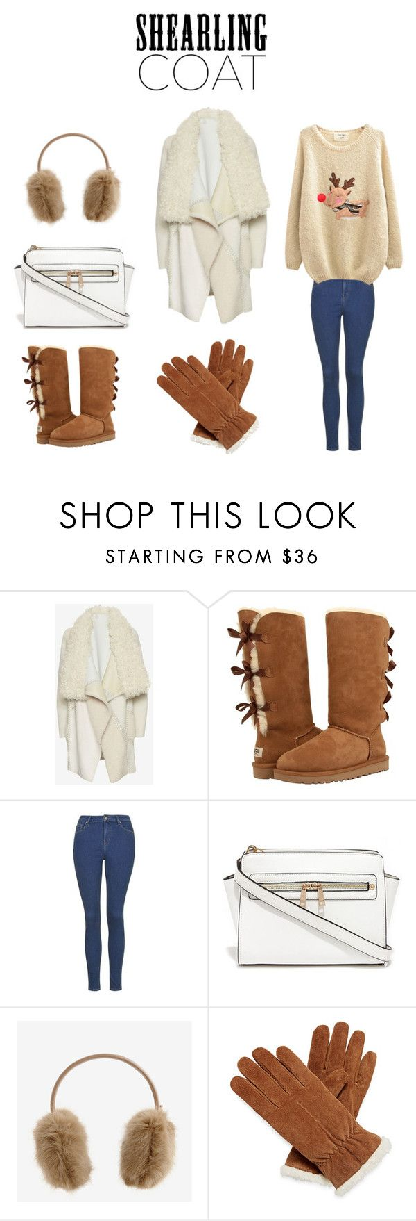 Shearling Coat by adriana-claudia on Polyvore featuring Chicnova Fashion, Yves Salomon, Topshop, UGG Australia, Isotoner, Ted Baker and shearlingcoat