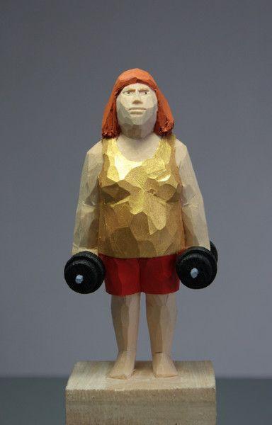 Skulpturen - Holzskulptur, Skulptur, Figur, Schnitzfigur - ein Designerstück von dieschnitzstelle bei DaWanda