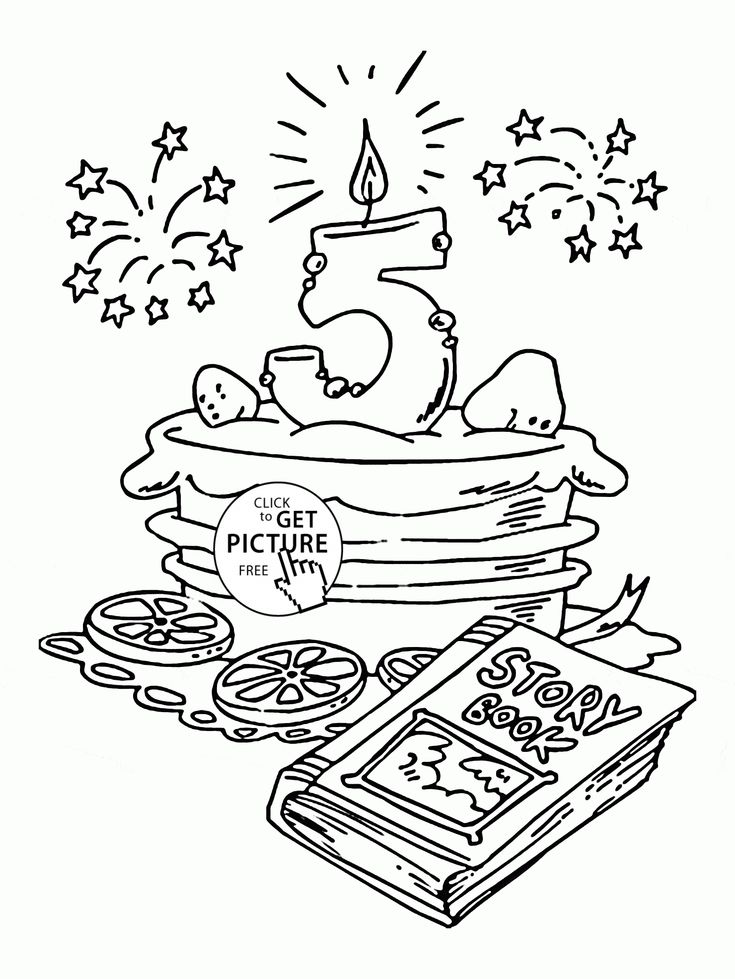 150 Best Birthday Coloring Pages Images On Pinterest