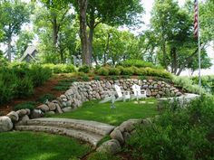 landscaping and hiding a mound system landscape shoreline work hillside landscaping shoreline rock riprap septic tank coverslandscaping ideasbackyard
