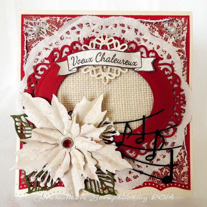 Claralesfleurs Scrapbooking 2014 - Une carte de voeux chaleureux avec Bonne Année et Bannière #1 de Simple à Souhait...