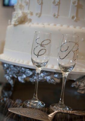 Copas de boda con strass