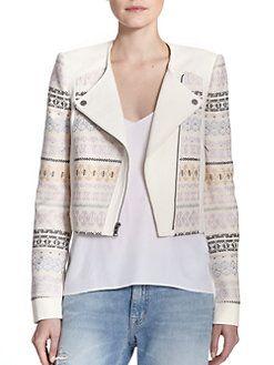 BCBGMAXAZRIA - Cody Printed Knit Jacket