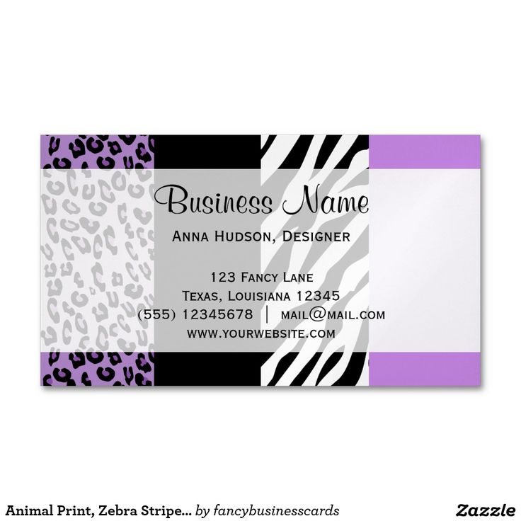 Business Cards Animal Print Image collections - Card Design And Card ...