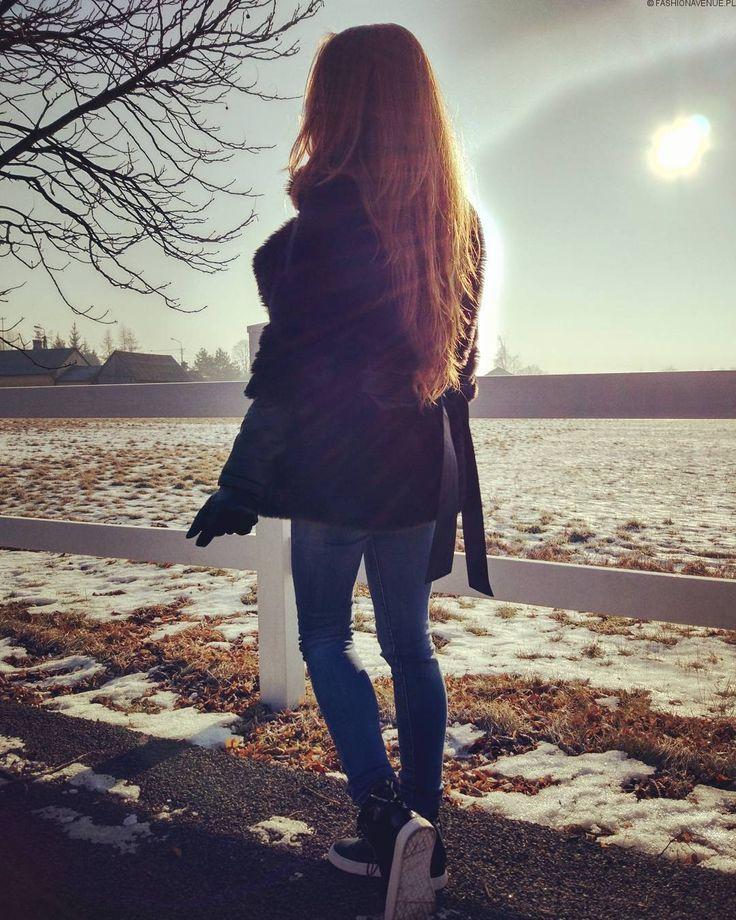Kurka Damska Futerko Skóra na Wiosnę Jesień Zimę #115 FASHIONAVENUE.PL Sklep
