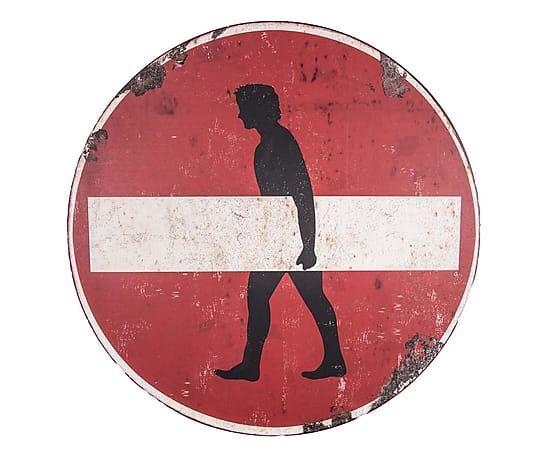 Segnale stradale decor in metallo interdit rosso/bianco, 51x51x2 cm