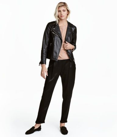 Satinhose   Schwarz   Damen   H&M DE