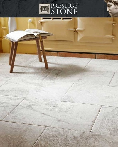 Rustic Silver Grey Travertine Natural Stone Floor Tile