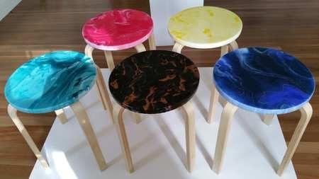 Resin Art Stool Workshop %28Ferntree Gully%29