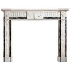 18th Century Irish Marble Fireplace by George, Hill and Arthur Darley