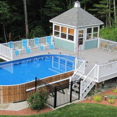 1000 ideas about above ground pool on pinterest ground for Above ground pool surround ideas