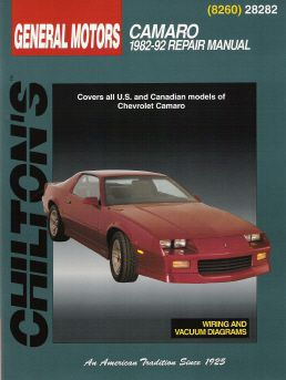 1982 - 1992 Chevrolet Camaro Chilton's Total Car Care Manual