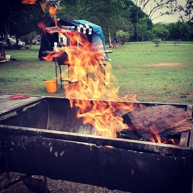 """Braai time with @SANparksHR"" #Fire #Flames"