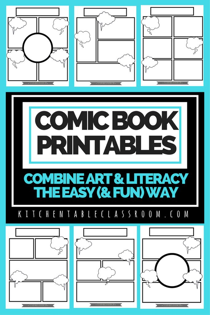 FREE Comic Book Printables for Creative Writing | Homeschool Giveaways