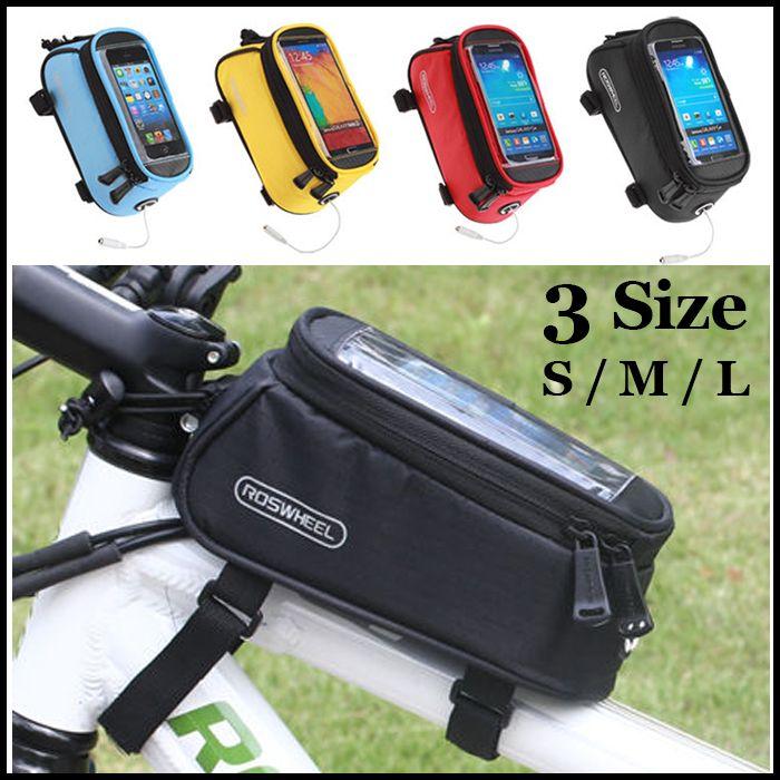 Radfahren Reiten Fahrradrahmen Pannier Wasserdichte Bike Tasche Touchscreen-telefon-kasten Vorne Oberrohr Korb Stamm Outdoor Rack Pouch