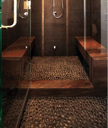 Modrocks Pebble MosaicsPebble Floors, Bathroom Design, Ideas, Modern Bathroom, Rivers Rocks, Dreams House, Bathroom Shower, Glasses Doors, Dreams Shower
