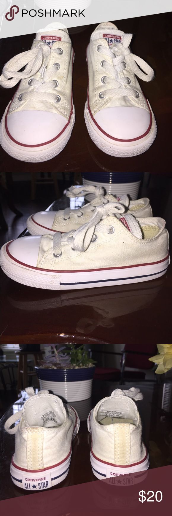 Almost New All White Child's Converse Size 9. Almost New Unisex Converse In White Converse Shoes Sneakers