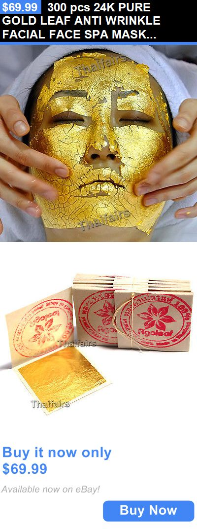 wholesale Skin Care: 300 Pcs 24K Pure Gold Leaf Anti Wrinkle Facial Face Spa Mask Wholesale Price BUY IT NOW ONLY: $69.99