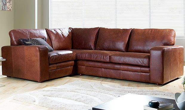 Sloane leather corner sofa - I wish! Beautiful
