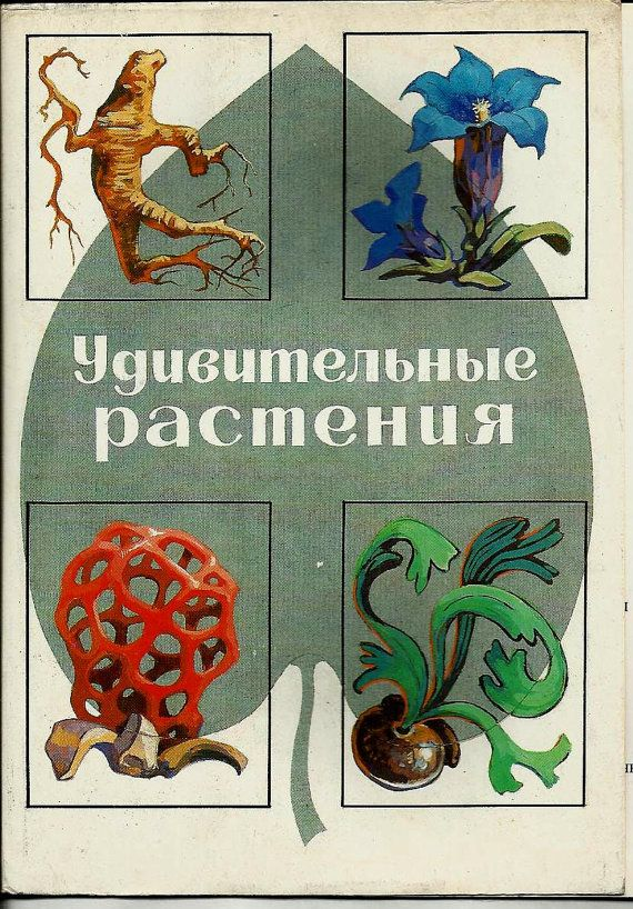 Amazing plants Vintage Russian Postcards set of 32 by LucyMarket, $28.50