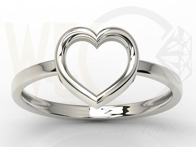 Pierścionek w kształcie serca ze srebra / Heart-shaped ring made from silver / 49 PLN #silver #jewelry #diamonds #rings #jewellery #heart