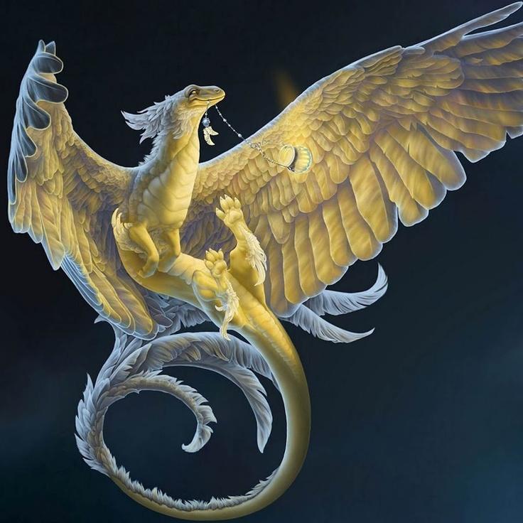 Gold dragon. | Golden Dragon | Pinterest Dragon