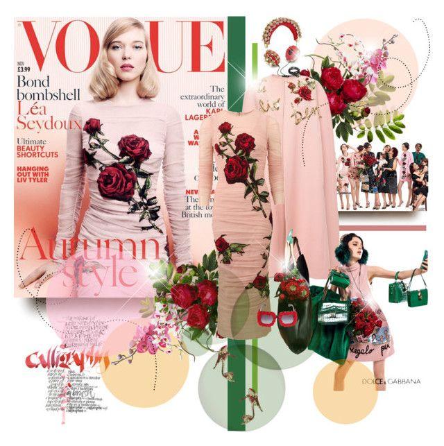 2b00608f804 Lea Seydoux wears Dolce Gabbana on the cover of Vogue UK November 2015