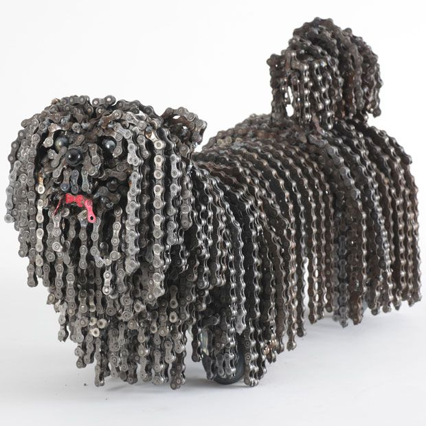 Dog sculptures made of bicycle chains and parts by Nirit Levav Packer - Telegraph