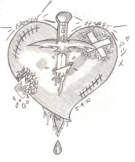 kutsuu broken heart malenzeichnen   gebrochenes