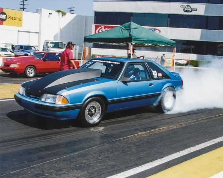 Fox Body Mustang Lx Drag Racing Burnout True Street Car