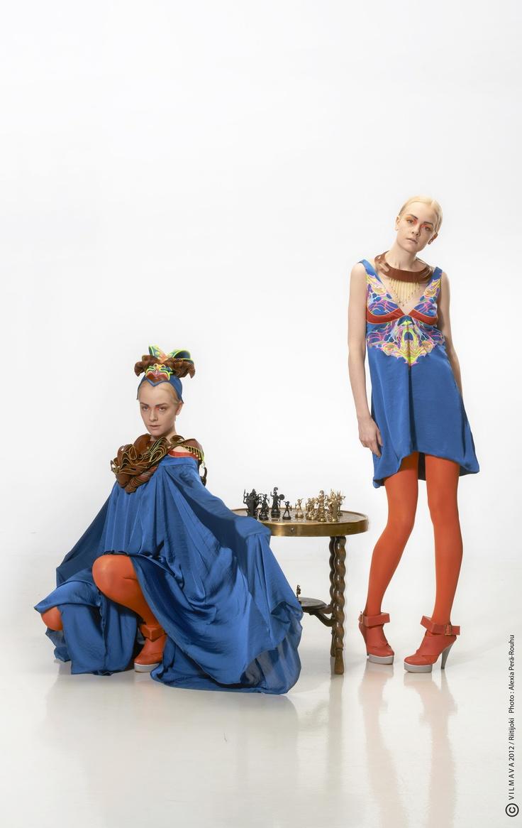 Houte Couture Collection Mitosis. Fashion design by Vilma Riitijoki/Vilmava. Hat design with Samuli Kivinummi, Photo; Aleksia Perä-Rouhu, Model; Meri/Paparazzi, Hair; Eetu Heinonen