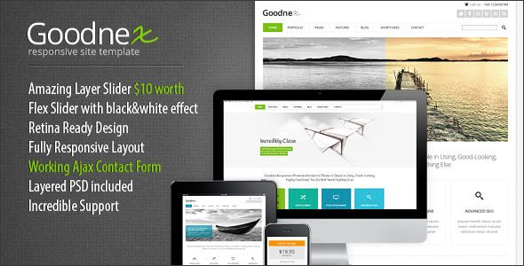 Goodnex Responsive HTML5/CSS3 Site Template
