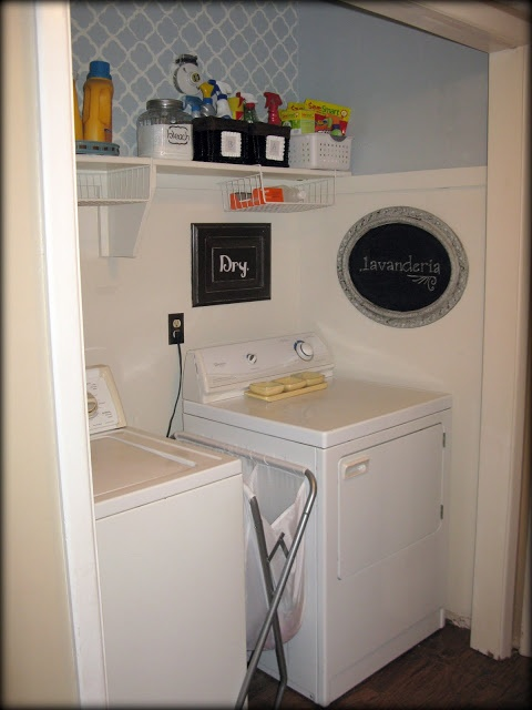 I Like The Basket Between Washer And Dryer Great For Kitchen Towels Or Odds Ends Laundry Organization Pinterest Closet