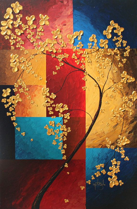 HUGE PAINTING REDUCED Price Modern Contemporary by BourbeauStudios, $275.00