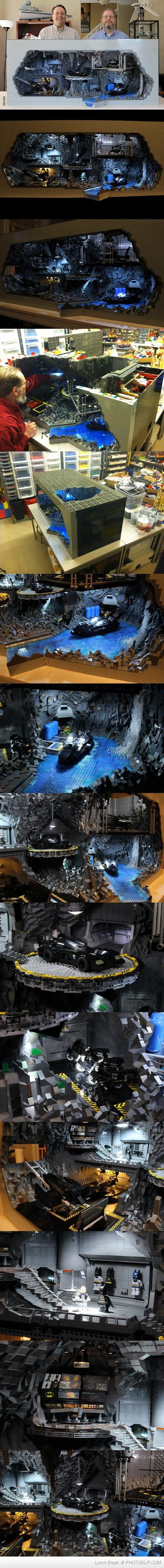Batcave Made Out Of 20,000 Lego Pieces!