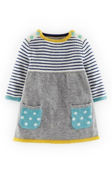 Baby Girl Knitted Sweater Pattern : 17 Best ideas about Knit Baby Dress on Pinterest Knitted baby clothes, Knit...