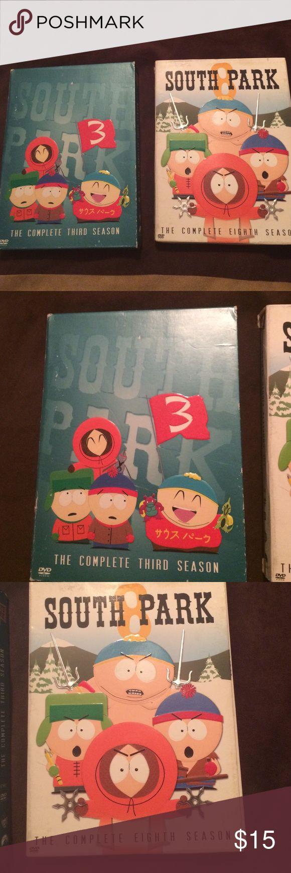 South Park DVD South Park season 3 and season 8 DVD sets Accessories