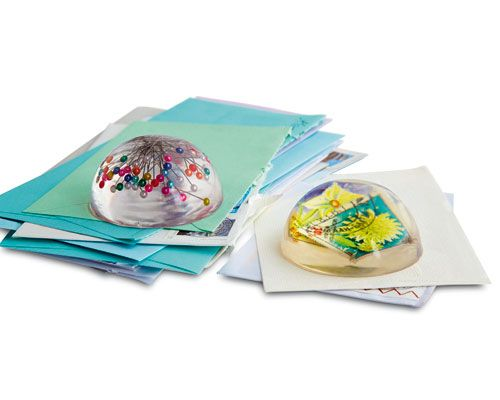 DIY Briefbeschwerer aus Gießharz