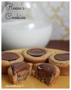 Homemade Reese's Cookies!  Best Recipe EVER!!!  These are always a big hit at our house.