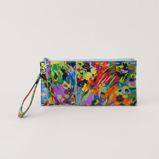 """Check out """"Vida Wristlet in Floral Leather"""" from Hobo Bags"""