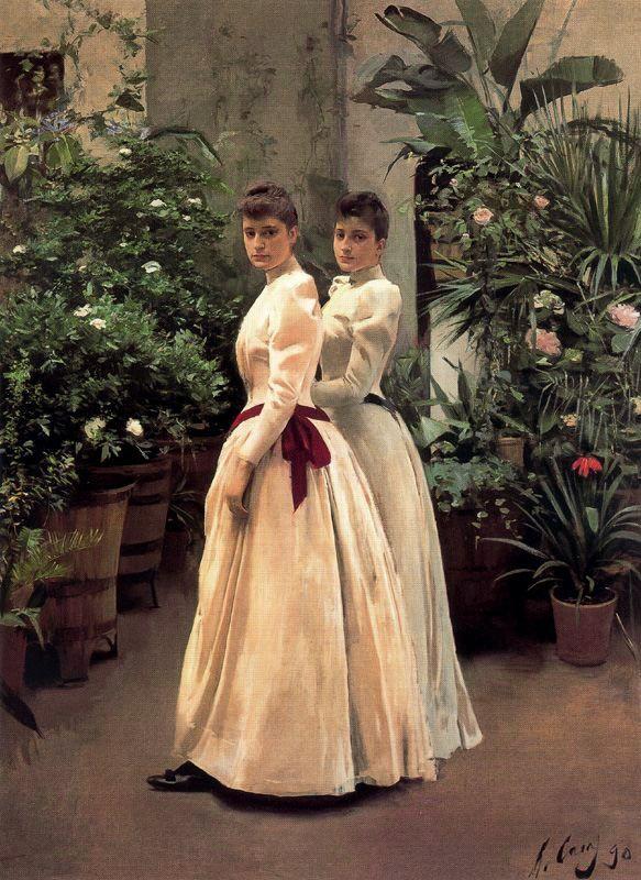 Retrato de las señoritas N.N. 1899. Óleo sobre lienzo, 220 x 160 cm. Colección particular. Obra de Ramón Casas