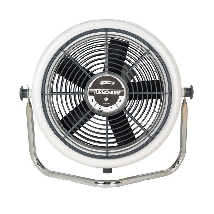 Seabreeze 3200-OM Aerodynamic High Velocity Cooling Fan, 12, 3 Speed, Gray