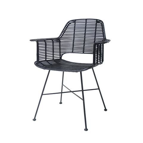 HK Living Dining Room Rattan Tub Chair